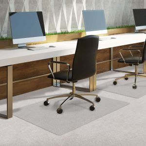 Direct Wicker Office Chair Mat for Carpet or Hard Floor with Lip or Rectangle Shape