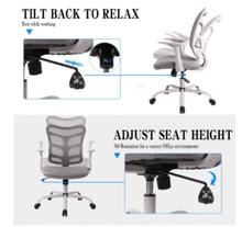 Load image into Gallery viewer, Ergonomic Office Mesh Computer Chair with Armrests and Lumbar Support