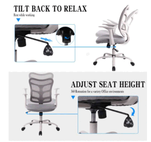 Ergonomic Office Mesh Computer Chair with Armrests and Lumbar Support