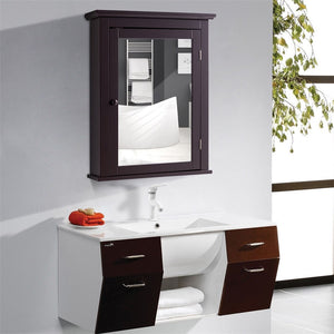 Bathroom Wall Mounted Storage Mirror Medicine Cabinet High Quality 2-tier Waterproof Anti-corrosion Bathroom Cabinet HW59321