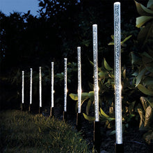 Load image into Gallery viewer, 8Pcs Solar Tube Light Bubbles Stick Solar Lamp Pathway Lawn Landscape Decoration Acrylic Outdoor Garden Patio Lamps Set