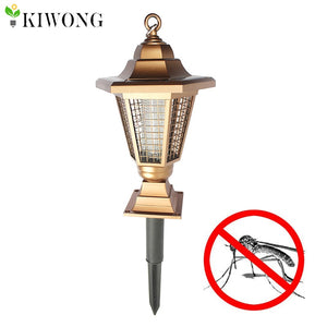 Solar Powered Outdoor Insect Killer Bug Zapper Mosquito Killer Hang or Stick in the Ground Dual Modes Garden Light Lamps