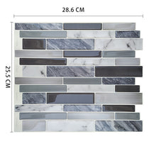 Load image into Gallery viewer, Removable Peel Self Adhesive Mosaic Marble Tile Backsplash Wall Sticker Vinyl Bathroom Kitchen Home Decor