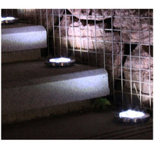 Load image into Gallery viewer, 8 LED Solar Lawn Lamp Solar Power Buried Light Under Ground Lamp Outdoor Path Way Garden Decking Light White Warm White