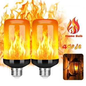 B22 E26 E27 LED Flame Light Bulbs 4 Modes Party LED Flame Effect Light Simulation Fire Lights Bulb KTV Festival Garden Decor