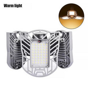Led Garage Lamp UFO Deform Industrial Lamp E27/E26 Led High Bay Light 60/80W Workshop Parking Warehouse Lamp 85-265v