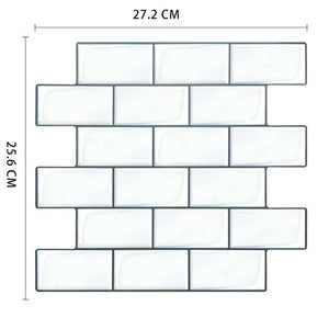 Removable Peel Self Adhesive Mosaic Marble Tile Backsplash Wall Sticker Vinyl Bathroom Kitchen Home Decor