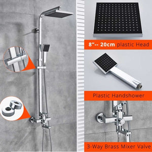 Uythner Bathroom Faucet Matte Black Rain Shower Bath Faucet Wall Mounted Bathtub Shower Mixer Tap Shower Faucet Shower Set Mixer