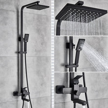 Load image into Gallery viewer, Uythner Bathroom Faucet Matte Black Rain Shower Bath Faucet Wall Mounted Bathtub Shower Mixer Tap Shower Faucet Shower Set Mixer