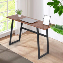Load image into Gallery viewer, Modern Computer Desk Wood And Metal Writing Desk Home Office Study Table