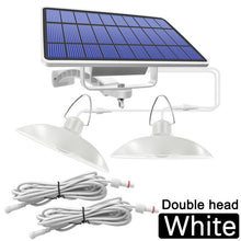 Load image into Gallery viewer, Double Head Solar Pendant Light Outdoor Indoor Solar Lamp With Line Warm White/White Lighting For Camping Home Garden Yard