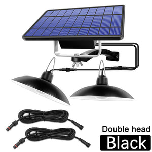 Double Head Solar Pendant Light Outdoor Indoor Solar Lamp With Line Warm White/White Lighting For Camping Home Garden Yard
