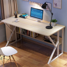 Load image into Gallery viewer, K-Shaped Legs Rack Design Home Desk, Student Simple Writing Desktop Desk Modern Economic Laptop Computer Desk
