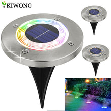 Load image into Gallery viewer, 8 LED Outdoor Solar Garden Lights Waterproof In-Ground Light Solar Lamp Lighting for Pathway Yard Deck White/Warm White/RGB
