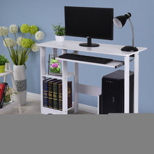 Load image into Gallery viewer, Desktop Home Computer Desk - Small White Computer Desk with Drawers and Printer Shelves - Modern Minimalist Desk Creative Desk