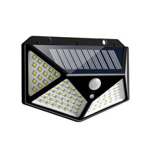 Load image into Gallery viewer, 100/114 LED Solar Lamp PIR Motion Sensor 3 Modes Outdoor Solar Garden Light Four-Sided Waterproof Energy Saving Wall Yard Lamps