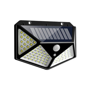 100/114 LED Solar Lamp PIR Motion Sensor 3 Modes Outdoor Solar Garden Light Four-Sided Waterproof Energy Saving Wall Yard Lamps