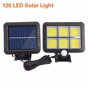 120 LED Solar Wall Light Outdoors Solar Garden Light Waterproof PIR Motion Sensor Wall Lamp Spotlights Emergency Street Lamp