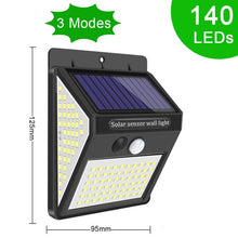 Load image into Gallery viewer, Outdoor Lighting Solar Motion Sensor Light New Upgrade 268 LED Solar Lamp Waterproof for Garden Decoration Street Security Light