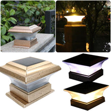 Load image into Gallery viewer, Hight Quality Outdoor Garden Solar Powered LED Post Deck Cap Square Fence Landscape Lamp Light For Dropship
