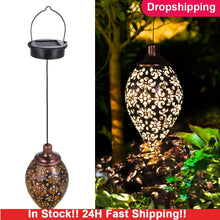 Load image into Gallery viewer, Waterproof solar garden light  LED Lantern Hanging Outdoor solar Lamp Olive Shape Sensitive Sensor Control Solar Powered lamp