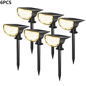 SHOPLED 1/2/6PCS Led Solar Light Outdoor Garden Landscape Lawn Lamp P67 Solar Powered 2 In 1 Wireless Decoration Wall Lamp