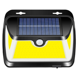 163 COB LED Solar Light PIR Motion Sensor Outdoor Solar Lamp IP65 Waterproof Wall Light Sunlight Powered Garden street light