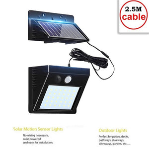 Outdoor LED Solar Wall lamp Night light PIR Motion Sensor Auto ON/Off Waterproof Porch Path Street Garden Security lighting indo