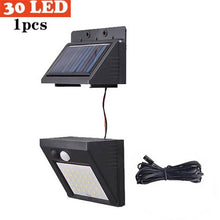 Load image into Gallery viewer, Outdoor LED Solar Wall lamp Night light PIR Motion Sensor Auto ON/Off Waterproof Porch Path Street Garden Security lighting indo