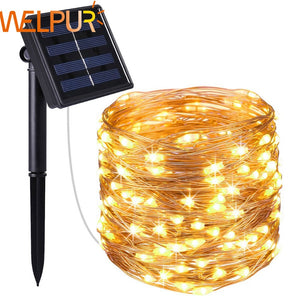 New year Solar Lamp LED Outdoor 10m/5m LED String Lights Fairy Holiday Christmas Party Garlands Solar Garden Waterproof Lights