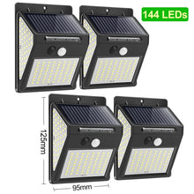 Load image into Gallery viewer, LED Solar Light Outdoor Solar Lamp PIR Motion Sensor Wall Light Waterproof Solar Powered Sunlight for Garden Decoration