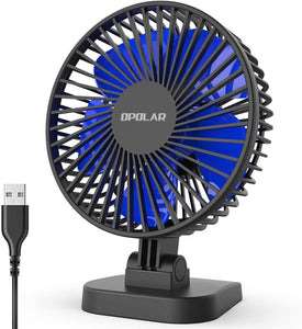 Mini USB Desk Fan Better Cooling Perfect,Strong Airflow Whisper Quiet Portable Fan for Desktop Office Table,3 Speeds,4.9 ft cord