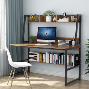 "Computer Desk with Hutch 47"" or 55'' Bookshelves Laptop PC Study Table Workstation"