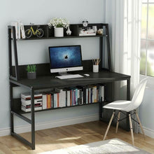 "Load image into Gallery viewer, Computer Desk with Hutch 47"" or 55'' Bookshelves Laptop PC Study Table Workstation"