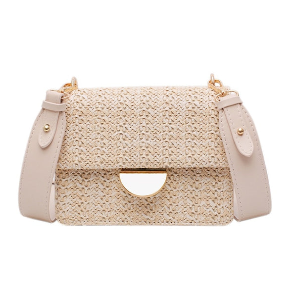 Amelia Square Crossbody Straw Bag