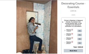 New 11th-14th January Decorating Essentials Course Date just added.