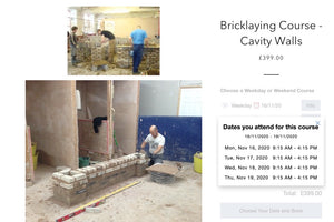 Last Minute Cancellation on November 16th Bricklaying Cavity Walls Course