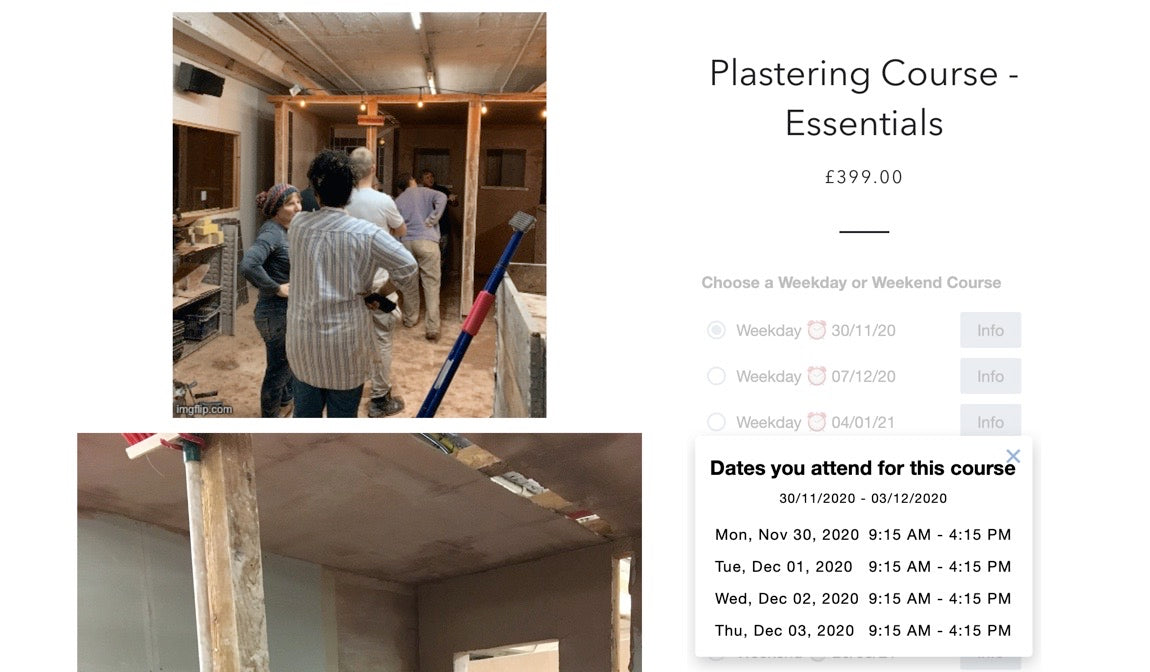 Last Minute Plastering Essentials Course Booking Offer