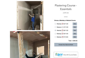 We've just added a November 9th Plastering Essentials Course