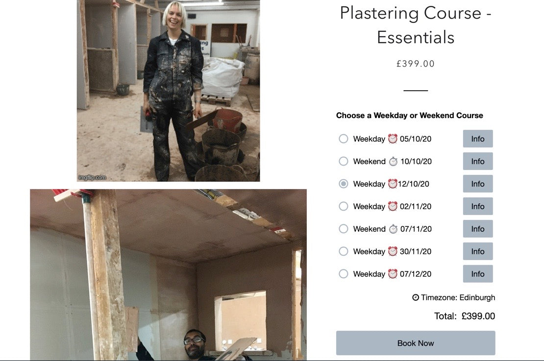 Rarer than 7 Finger Gloves - A Plastering Course Late Cancellation Date