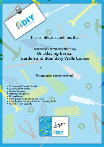 DIY Course Certificate