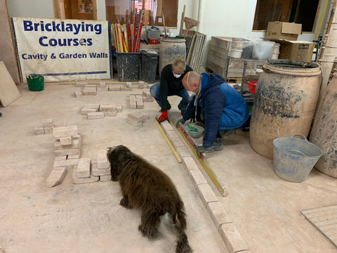 Bricklaying setting out