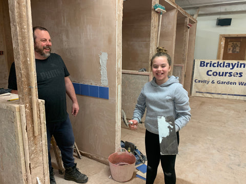 Happy kids tiling
