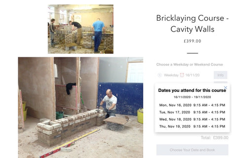 Bricklaying late Booking Offer