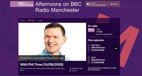 Phil Trow on BBC Radio Manchester