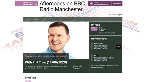 Phil Trow on BBC Radion Manchester
