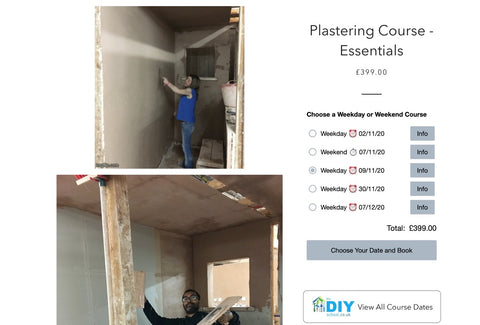 Plastering Course New date in November