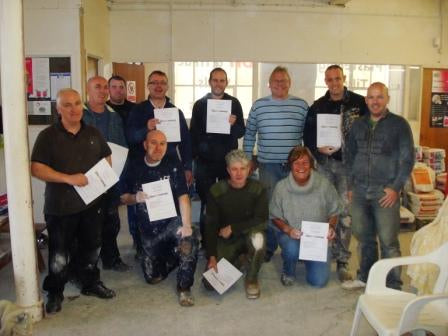 Plastering course certificate