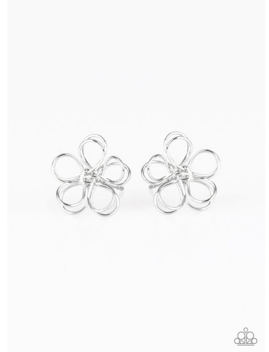 Paparazzi Starlet Shimmer Silver Wire Earrings
