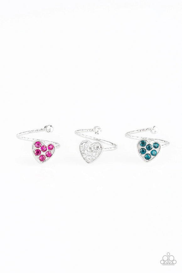 Paparazzi Starlet Shimmer Heart Rings